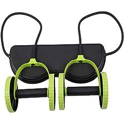 Kaiyei AB Roller para Abdominales Roller Rueda Abdomen Ejercicio Multifuncional Seguro Rueda De Entrenamiento AB Wheel Familia Fitness Musculatura Máquina Verde + Negro