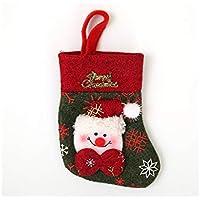 SOPOUITRO Exterior Interior Bolsa de Cubiertos de Navidad Bolsa de Regalos Bolsa de Navidad Decoración (