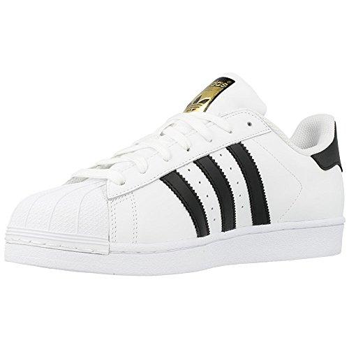 adidas b27141, Scarpe da Basket Uomo Bianco-Nero-Oro