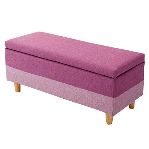 Chengcwd Rechteckiger osmanischer Aufbewahrungshocker, Kinderspielzeug Kleinigkeiten Aufbewahrungsbox 4 Fuß weiches Sitzkissen mit Abdeckungen für Wohnzimmer, Schlafzimmer (größe : 40cm×100cm×42cm) -