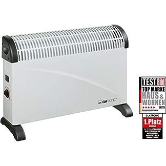 Clatronic KH 3077 – Convector con termostato regulable, 3 niveles de temperatura, con regulador de potencia para un bajo consumo