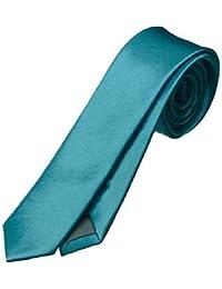 L&C®New Fashion Skinny Mens Wedding Solid Plain Necktie Color Tie 30 Colours UK