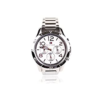 Tommy Hilfiger Ladies Watch 1781526 Cronógrafo – Pulsera: Plata Acero Inoxidable – Dial Silver White