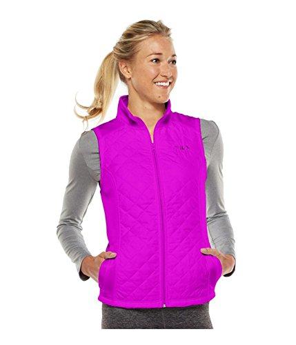 Fila Womens Runswift Quilted Fleece Jacket (Fila Jacke Frauen Fleece)