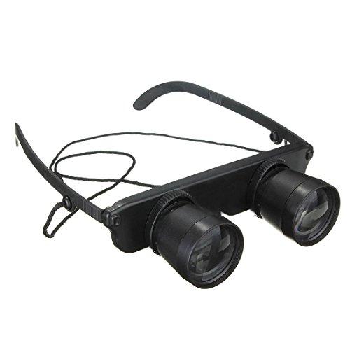 Theater Gläser - CUHAWUDBA Schwarz 3x28 Brille Vergroesserungsglas Lupenbrille