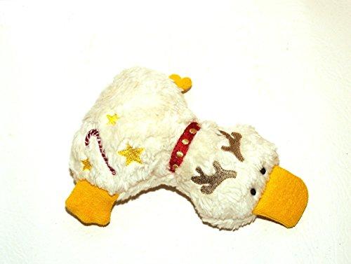 Kuscheltier Ente aus Bio Baumwoll Plüsch und Frottee, handgemacht, Personalisierbar mit Namen, Rassel, Knisterfolie, Weihnachten, Rentier Weihnachtsgeschenk (Plüsch Frottee)