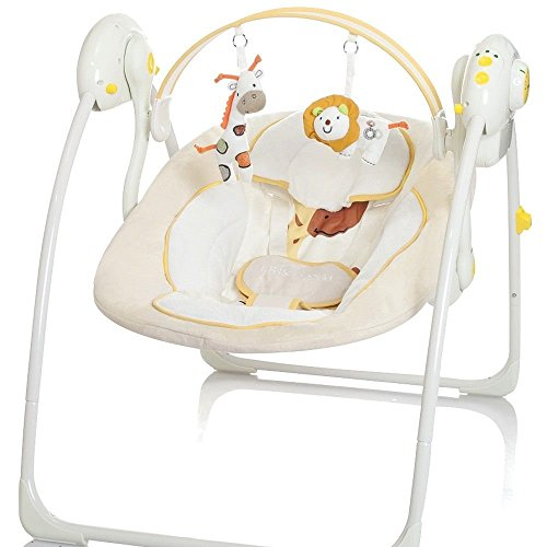 Elektrische Babyschaukel Automatische Baby Wiege Wippe Little World Dreamday creme