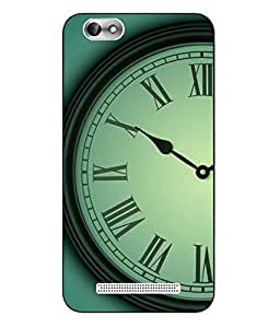 Case Cover Time Printed Green Hard Back Cover For Lenovo Vibe C A2020
