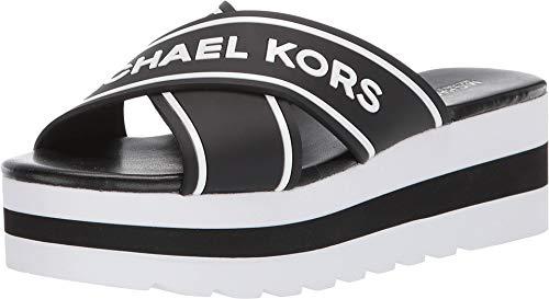 Michael MICHAEL KORS Demi Sport Pantoletten/Clogs Damen Schwarz/Weiss - 40 - Pantoffel