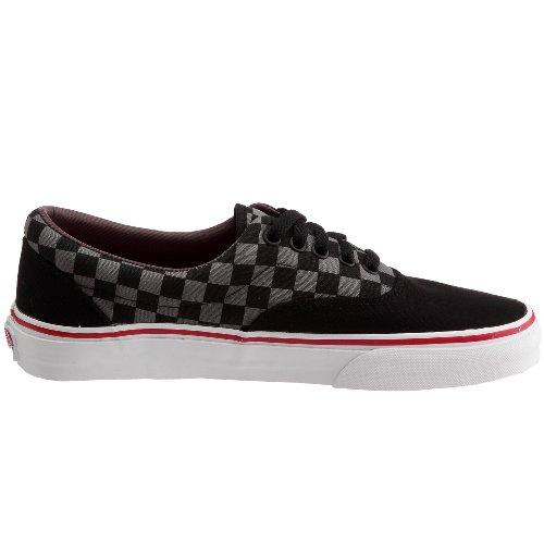 Vans Era Unisex-Erwachsene Sneakers Schwarz (Checkerboard/Black/Pewter/Chili Pepper)