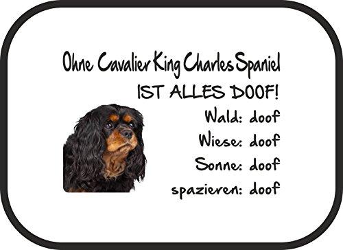 AdriLeo Autosonnenschutz Ohne Cavalier King Charles Spaniel ist Alles doof! 2er Set incl. Befestigung -