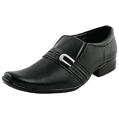 Kraasa Formal Shoes for Men (Material: Leather, Color: Black) (Size: 7) K-4110-Black-7