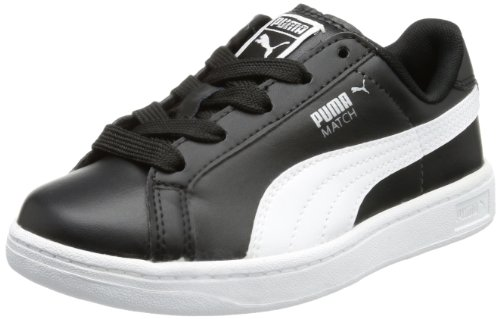 Puma Match FS Jr, Low-top mixte enfant Noir - Schwarz (black-white 08)