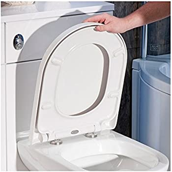 strong toilet seat hinges. Premium D SHAPE Soft Close WHITE Toilet Seat Bathroom  Top Fixing Hinges WC