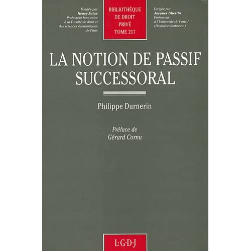 La notion de passif successoral