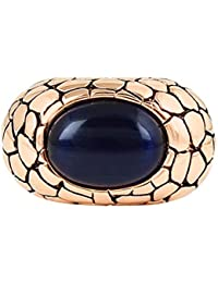 ROHIT BAL Copper Gold Tone Big Stone Crackle Cufflinks for Men