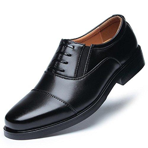 Uomo Attività commerciale Vestito formale Scarpe di pelle Spessore inferiore È aumentato Leggero Confortevole euro DIMENSIONE 38-44 Black