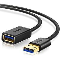 UGREEN 10373, Cable Alargador USB 3.0, Cable Extensor de USB Tipo A Macho a Hembra, Negro, 2 m