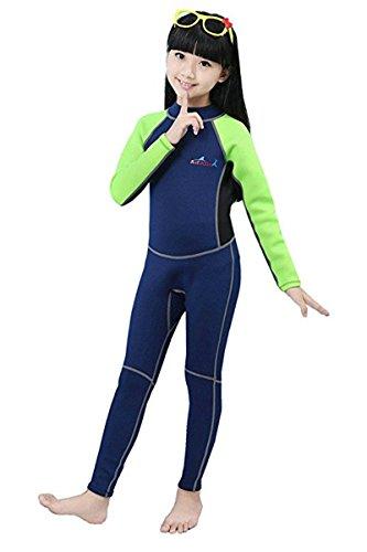 Baby Kleinkind Jungen Mädchen Einteiler Neoprenanzug 2.5MM Lang Wetsuit Schwimmanzug Sonnenschutz für Wassersport Diving Suit L