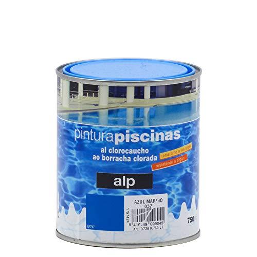 Pintura Piscinas al Clorocaucho Alp - 750 mL, Azul Mar