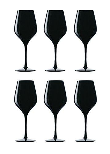 Stölzle Lausitz 147 74 02, Blind Tasting Weinglas in schwarz, 6-er Set, 350ml, Made in Germany