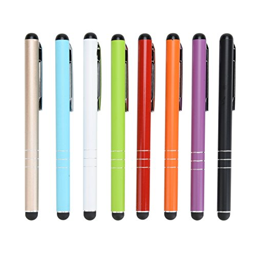 Yizhet 8X Eingabestift Stylus Stift Touch Pen Touchstift Universal für iPhone iPad Samsung und Alle Smartphone Handy Tablet mit kapazitiven Touchscreen (8Stk. 3-Ring Version)