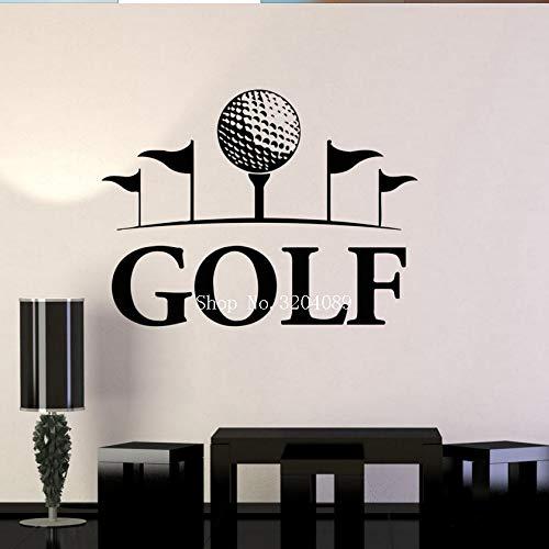 zqyjhkou Golf Club Kunst Wandbild Englisch Sport Wandaufkleber Steuern Dekor Wohnzimmer Schlafzimmer Hobbys Vinyl Aufkleber Selbstklebende Geschenk Yy585 75x56 cm - Junior-mädchen-golf-schuhe