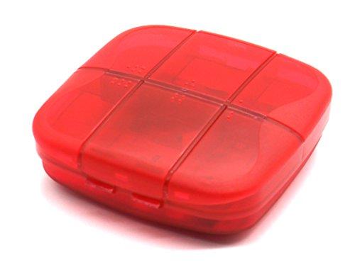 putwo-pill-box-deep-pill-case-durable-multifunctional-organiser-red