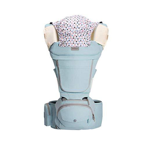 FIFY Babytrage Baby Gurt Multifunktions Baby Hocker Kind Vier Jahreszeiten universal einzigen Stuhl Kind vorne Umarmung Sitz AX23 See blau [Vier Jahreszeiten], A
