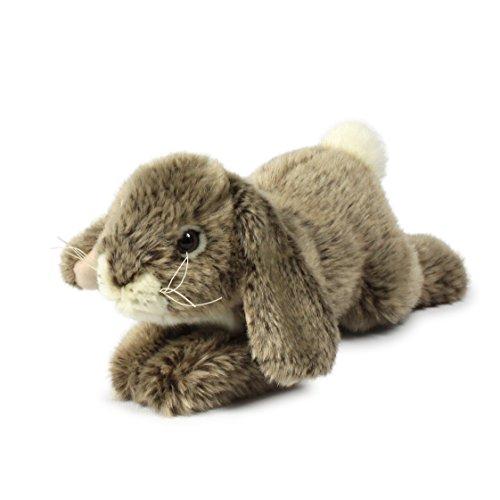 P16839 - Plüschfigur Kaninchen, Liegend 18 cm, grau, Plüschtiere (Plüsch-kaninchen)