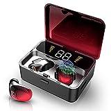 Ecouteur Bluetooth, Ecouteur sans Fil Bluetooth 5.0 avec Micro, 100H Playtime Oreillette Bluetooth, 2000mAh, Affichage LED, Touch-Control, Auto-Pairing, Écouteurs Etanche IPX7 pour iOS Android