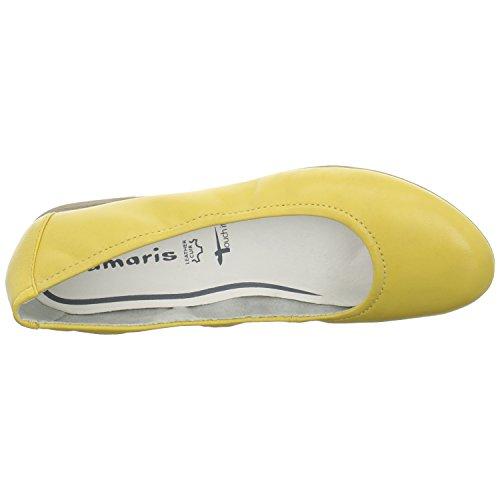 Tamaris Damen Ballerina Größe 40 Gelb (Gelb) -