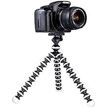 Mygadget Mini Trípode de mesa para Cámara con Placa [360 °] de liberación rápida - Soporte estabilizador flexible para GoPro, Nikon, Canon etc. Negro & Blanco