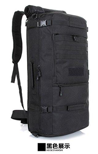 70 L Outdoor Bergsteigen Taschen Wasserdicht camouflage Rucksack 67 * 32 * 20 cm, ACU Digital 56-75 Liter Schwarz 56-75 L
