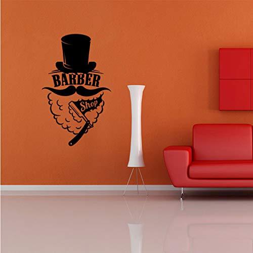 Barber Shop Aufkleber Barber Razor Pan Hai Post Wanddekoration Ethylen Fensterdekoration Wandmalereien Dekoration