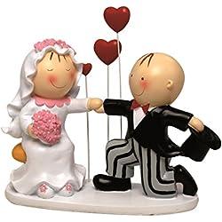 Figura de pastel pareja de novios declaración