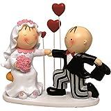 Mopec Y293 - Figura de pastel pareja de novios Pit & Pita declaración, 18 cm