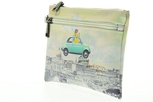 Y NOT? donna pochette con polsino H-342 FUR Bianco-Verde