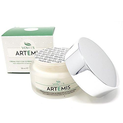 Vovees Artemis Crema Idratante Viso Antirughe con Acido Ialuronico Puro, 50ml | Antiage Giorno e Notte 100% Bio e Naturale | 10 Principi Attivi | Made in Italy