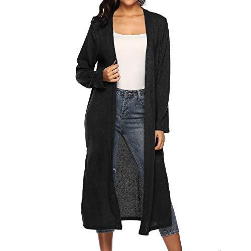 Moonuy Frauen Lange Strickjacke Damen Herbst Langarm Bluse Weiblich Öffnen Cape Lose Günstige Mode Lässig Mantel Bluse Kimono Jacke