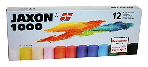 Honsell 47312 - Jaxon 1000 Ölpastellkreide, 12er Set, im Kartonetui, brillante, lichtechte Farben, ideal für Künstler, Hobbymaler, Kinder, Schule, Kunstunterricht, frei von Schadstoffen