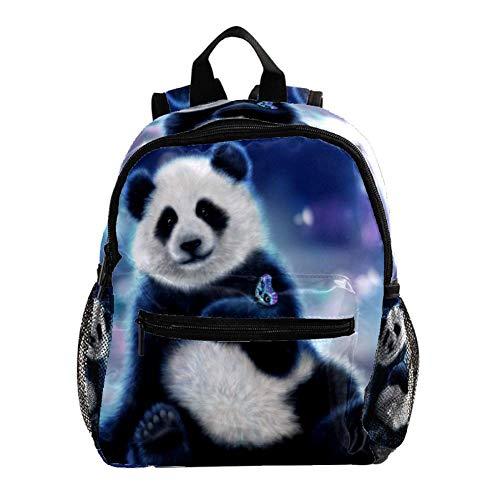 Niedlicher Panda 001 Kinder Rucksack Leichte Schultasche Voller Druck Für Vorschulkind 3-8 Jahre Baby Tasche Windel Milchpulver Rucksack 25.4x10x30 cm