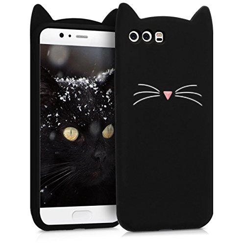 kwmobile CUSTODIA IN SILICONE Design gatto per Huawei P10 - Design stiloso e protezione ottimale