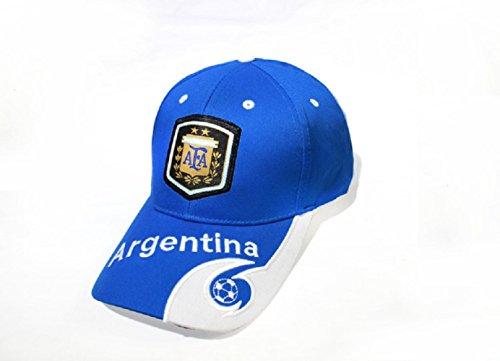 Argentinien Cap (VIO Nationalmannschaft Fan Cap Baseball Cap Sonnenhut Stickerei Hut,Argentinien,Einheitsgröße)