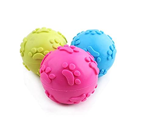 Gold butterfly@ Pet Toys Toys Dog Toys TPR Sound Rubber Hollow Footprints Ball Dog Training Toy Ball