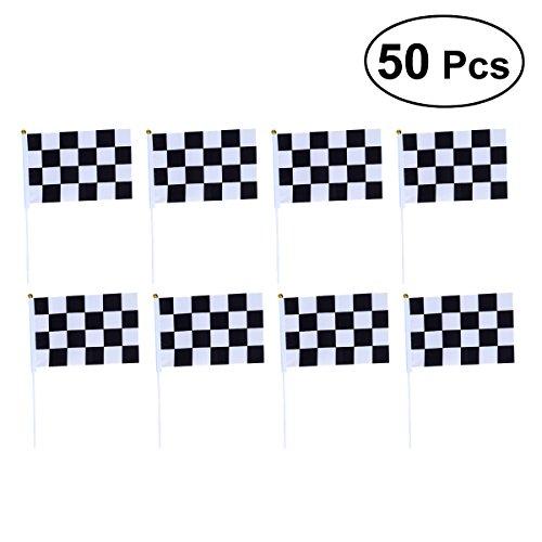 (BESTOYARD 50pcs Zielflagge Rennflagge Dekoration für Formel 1 Racing)