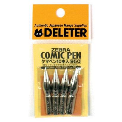 Deleter for Zebbra Comic Pen Nib Tama-pen 10pc