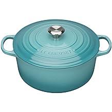 Le Creuset Evolution - Cocotte redonda, de hierro colado esmaltado, 26 cm, color azul caribe