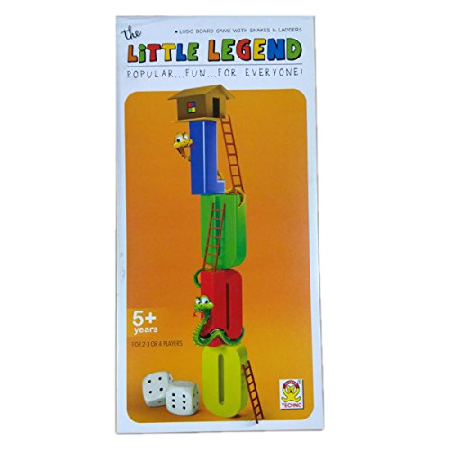 Kids Mandi™ Techno The Little Legend Ludo Board Game With Snakes & Ladders - Popular...Fun...For Everyone  available at amazon for Rs.190