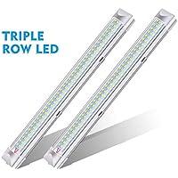AMBOTHER Innenbeleuchtung 2x108 LEDs Innenraumbeleuchtung Auto DC 12V LED Innenleuchte Universal RV Leuchtstofflampe für Fahrzeuginnenraum LKW KFZ Wohnwagen 2 Stücke (2 * 108LED)